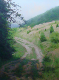 First Place Deborah Squier PSNC,  The Old Farm Road Canson Excellence in Arts Award (Rembrandt)